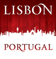 Lisbon Portugal city skyline silhouette vector image vector image