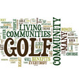 live and play golf everyday text background word vector image vector image