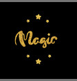 magic lettering hand drawn vector image vector image