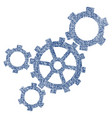 mechanism fabric textured icon vector image
