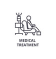 medical treatment thin line icon sign symbol vector image vector image