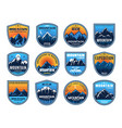 mountain climbing camping travel icons tourism vector image vector image