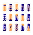 nail art design fingernail polish templates vector image vector image