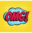Omg comic book bubble text retro style vector image vector image