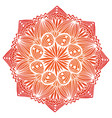 ornamental geometric mandala carpet ornament vector image