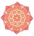 ornamental geometric mandala carpet ornament vector image vector image