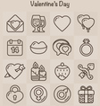 Outline Icons Set Valentines Day vector image vector image