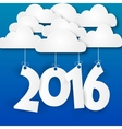 Paper clouds 2016 vector image
