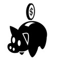 piggy bank sign icon 01 vector image