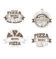 Pizza menu restaurant labels logos badges vector image vector image