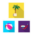 pool and swimming symbol vector image vector image
