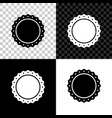 quality emblem icon isolated on black white and vector image vector image