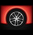 racing car wheel vector image