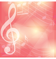 red music background with notes vector image vector image