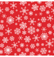 red seamless background with snowflakes vector image vector image