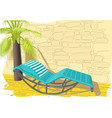 rocking bed vector image