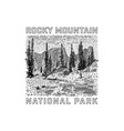 rocky mountain national park icon vector image