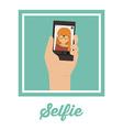 Selfie design vector image