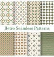 set 8 seamless patterns retro vector image