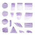 set of various pencil strokes vector image vector image