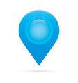 sky light blue map pointer icon marker GPS vector image vector image