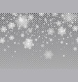 snow falling background magic christmas vector image vector image