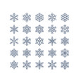 snowflake flat icons set collection cute vector image vector image