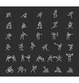 Sports thin line icons outline sport and vector image vector image