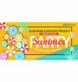 summer party banner vector image vector image