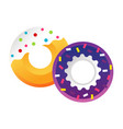sweet colorful tasty donut isolated vector image