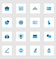 trade colorful icons set collection of contract vector image vector image