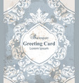 vintage greeting card with baroque ornamented vector image vector image