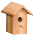 Wooden house for bird Nesting box vector image