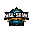 all star sports template logo design vector image vector image
