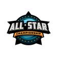 all star sports template logo design