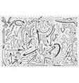 arrows hand drawn doodle set vector image vector image