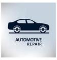 auto centre auto repair service car grey vector image vector image