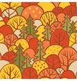 Background with autumn trees vector image vector image