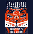 basketball sport game basket and ball vector image vector image