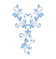 blue flower ornament vector image