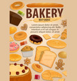 bread and pastry food bakery desserts vector image vector image