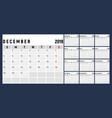 calendar 2019 week start on sunday corporate vector image