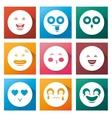 cartoon set smile emoticons vector image