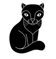 cat silhouette cute kitty - black silhouette vector image vector image