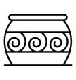 cauldron potter icon outline style vector image vector image