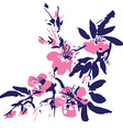 Chinese painting of flowers vector image vector image