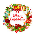 christmas banner xmas greeting card decoration vector image vector image