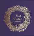 christmas greetings advert banner template vector image
