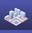city set modern skyscraper vector image