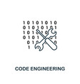 code engineering outline icon thin line style vector image vector image